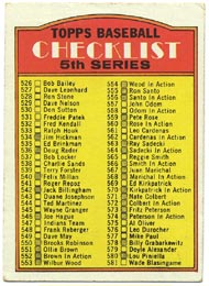 1972 Topps Baseball Cards      478     Checklist 526-656